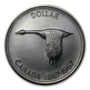 1967 Canada Silver Dollar Flying Goose AU/BU &/or Proof