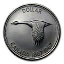 1967 Canada Silver Dollar Flying Goose AU/BU &/or Proof
