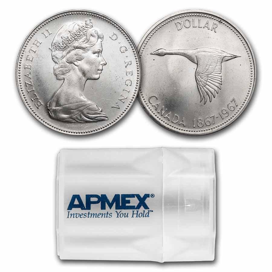 1967 Canada Silver Dollar Flying Goose BU (20 Count Roll)