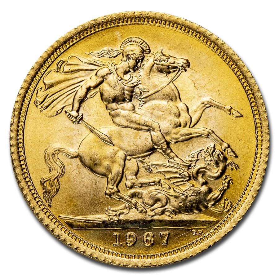 1967 Great Britain Gold Sovereign Elizabeth II BU
