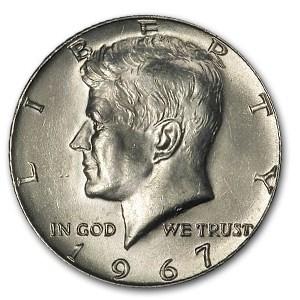 1967 Kennedy Half Dollar BU