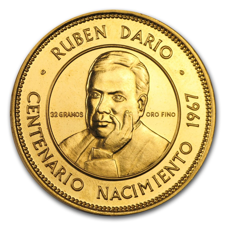 1967 Nicaragua Gold 50 Cordobas BU