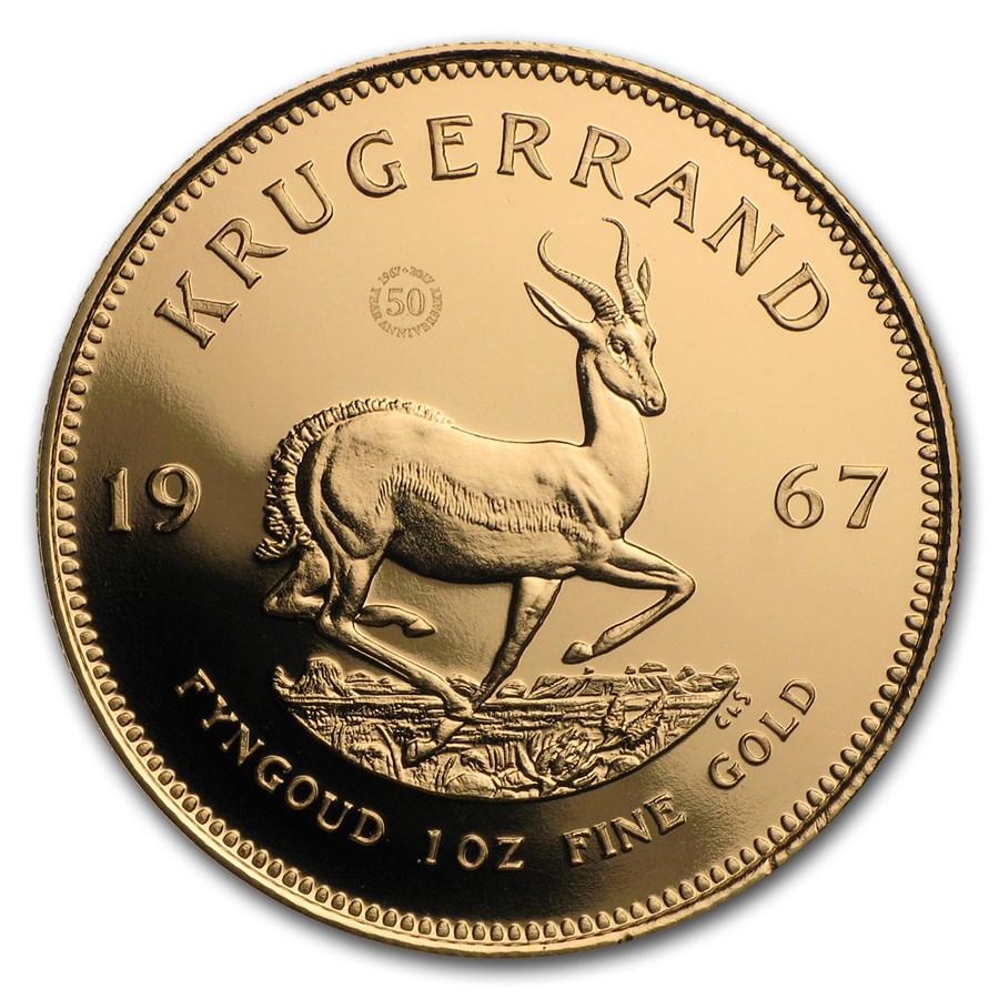 1967 South Africa 1 oz Gold 50th Anniv Vintage Krugerrand Proof