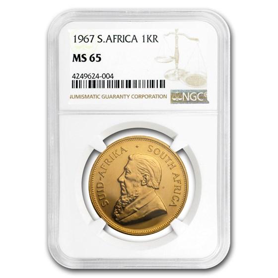 1967 South Africa 1 oz Gold Krugerrand MS-65 NGC