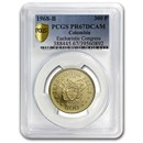 1968 Colombia Gold 300 Pesos Pope Paul VI PR-67 DCAM PCGS