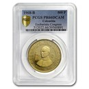 1968 Colombia Gold 500 Pesos Pope Paul VI PR-66 DCAM PCGS