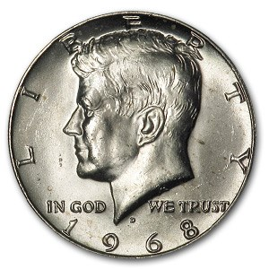 1968-D Kennedy Half Dollar BU