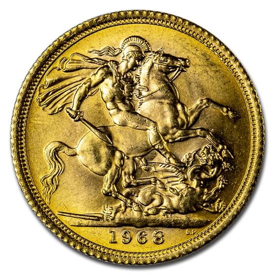 1968 Great Britain Gold Sovereign Elizabeth II BU