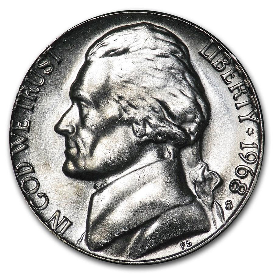 1968-S Jefferson Nickel BU