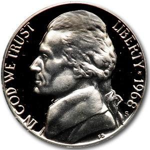 1968-S Jefferson Nickel Gem Proof