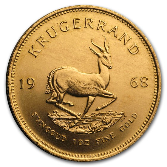 1968 South Africa 1 oz Gold Krugerrand