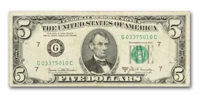 1969-B $5.00 FRN Average Circ