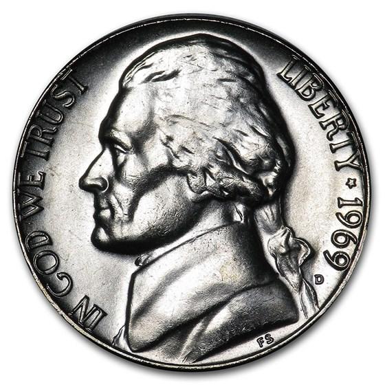 1969-D Jefferson Nickel BU