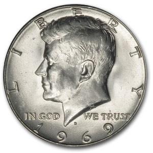 1969-D Kennedy Half Dollar BU