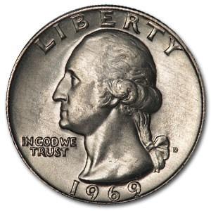 1969-D Washington Quarter BU