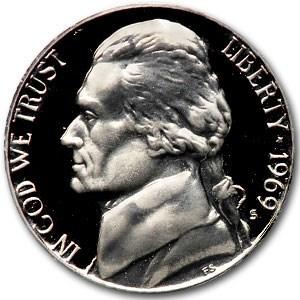 1969-S Jefferson Nickel Gem Proof