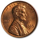 1969-S Lincoln Cent BU (Red)
