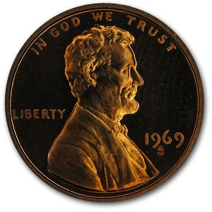 1969-S Lincoln Cent Gem Proof (Red)