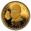 1970 Costa Rica Gold 500 Colones Jesus Jimenez Proof