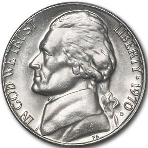 1970-D Jefferson Nickel BU