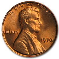 1970 Lincoln Cent BU (Red)
