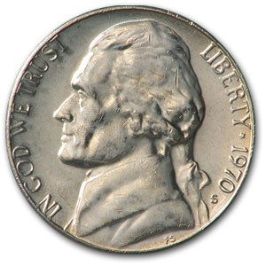1970-S Jefferson Nickel BU
