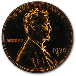 1970-S Lincoln Cent Large Date Gem Proof