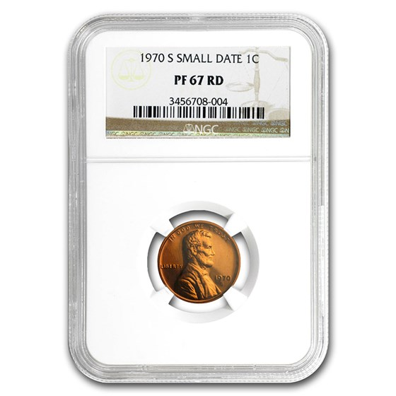 1970-S Lincoln Cent Small Date PF-67 NGC (Red)