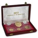 1971-1972 Bahamas 4-Coin Gold Proof Set (w/Box)