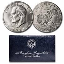 1971-1976 40% Silver Eisenhower Dollar BU (Blue Mint Envelope)