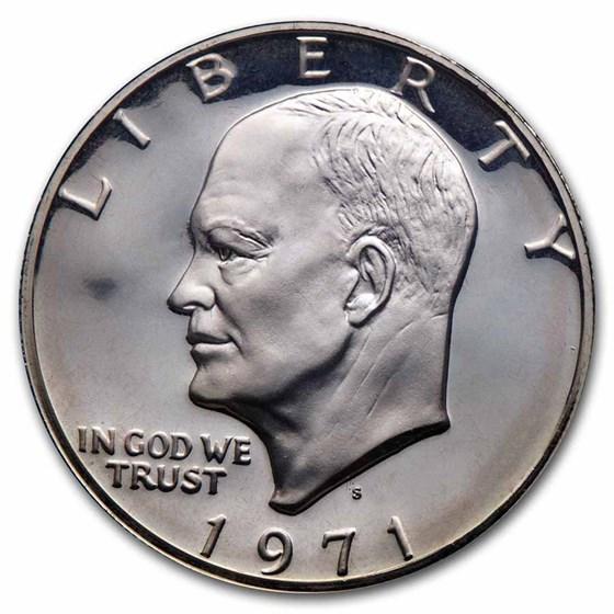 1971-1976 40% Silver Eisenhower Dollar Proof (Gold Seal Case)