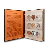 1971-1978 32-Coin Eisenhower Dollar Set BU/Proof (Dansco Album)