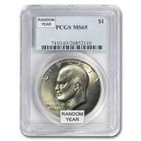 1971-1978 Clad Eisenhower Dollar MS-65 PCGS (Random Year)