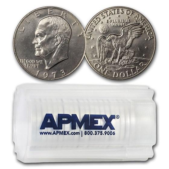1971-1978 Clad Eisenhower Dollars 20-Coin Roll BU