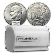 1971-1978 Clad Eisenhower Dollars 20-Coin Roll XF-AU