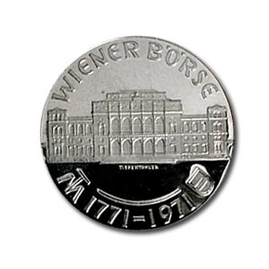 1971 Austria Silver 25 Schillings Vienna Bourse Proof