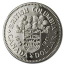 1971 Canada Nickel Dollar British Columbia BU/Prooflike