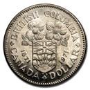 1971 Canada Nickel Dollar British Columbia BU