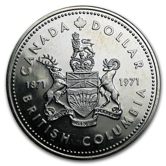 1971 Canada Silver Dollar Specimen (British Columbia)