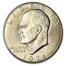 1971 Clad Eisenhower Dollars 20-Coin Roll BU