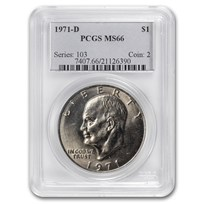 1971-D Clad Eisenhower Dollar MS-66 PCGS