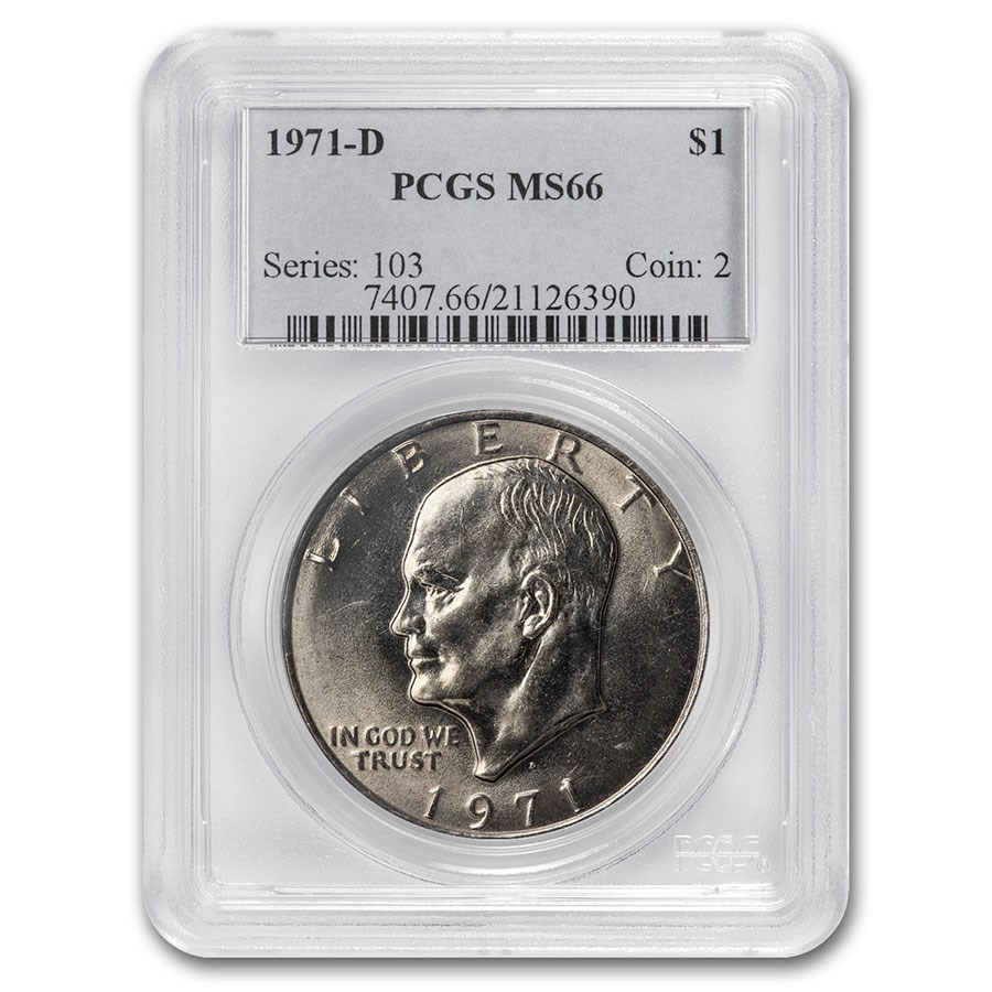 1971-D Clad Eisenhower Dollar MS-66 PCGS