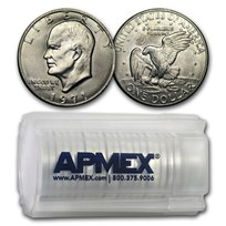 1971-D Clad Eisenhower Dollars 20-Coin Roll BU