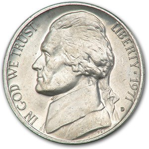 1971-D Jefferson Nickel BU
