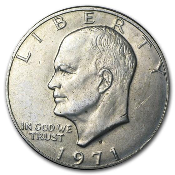 1971-S 40% Silver Eisenhower Dollar BU