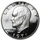 1971-S 40% Silver Eisenhower Dollar Gem Proof