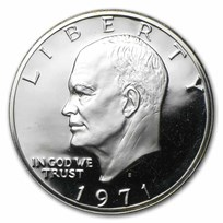 1971-S 40% Silver Eisenhower Dollars 20-Coin Roll Proof