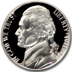 1971-S Jefferson Nickel Gem Proof