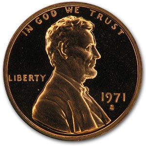 1971-S Lincoln Cent Gem Proof (Red)