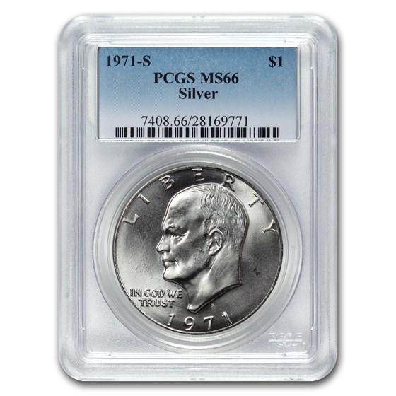 1971-S Silver Eisenhower Dollar MS-66 PCGS